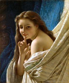 Pierre Auguste Cot – Ritratto di una giovane