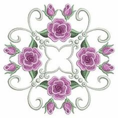 Pearl Roses Quilt 8, 1 - 3 Sizes! | What's New | Machine Embroidery Designs | SWAKembroidery.com Ace Points Embroidery