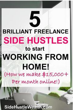 Finance Hacks 5 brilliant freelance work-at-home ideas! Start these freelance ideas asap so that you can leave your job and become self-employed! Earn More Money, Ways To Earn Money, Earn Money Online, Money Tips, Way To Make Money, Money Hacks, Money Budget, Work From Home Jobs, Make Money From Home