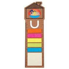 Nice mailing or handout piece - bookmark, ruler and sticky notes. Available from Thrive Promotional.