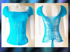 Womens / Juniors Blank Turquoise Top Cut Shirt Series Size Small, Medium, Large, XL, 2XL, 3XL Shredded T