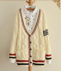 Fabric: Cotton  Color: beige, navy  Size: Free  Shoulder: 38cm Bust: 98cm Sleeve Length: 54.5 cm Length: 74cm