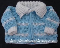 casaquinhos e botas para bebe passo a passo | Casaquinho de bebê em ponto relevo. Adoro fazer estes casaquinhos!