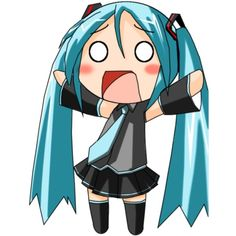 Image of Vocaloid (Miku Hatsune chibi) - Anime Vice ❤ liked on Polyvore
