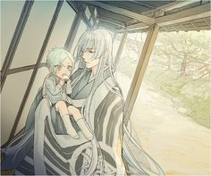 A brother with the wrong brother, but still much cute because Hizamaru and Kousetsu.