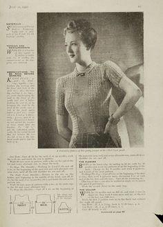 The Vintage Pattern Files: 1940's Knitting - Neat & Feminine