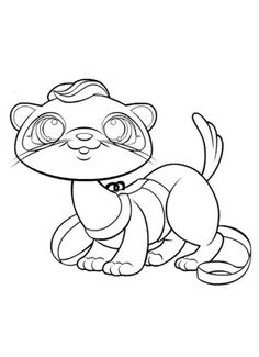 Cute little otter from Littlest Pet Shop free printable coloring pages