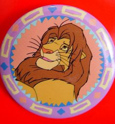 Disney Lion King Jewelry-Button Badge by VintageUpcycled on Etsy