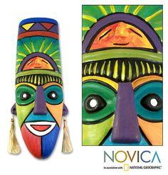 """Ceramic Mask - """"Inca Priest"""""""