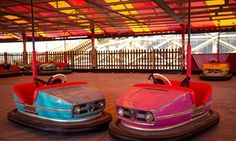 Beautiful and evocative; restored dodgem cars at Dreamland amusement park in Margate.