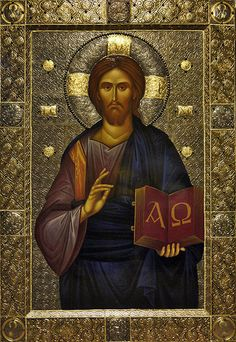 The Savior, the Alpha and the Omega. Religious Icons, Religious Art, Christ Pantocrator, Roman Church, The Transfiguration, Images Of Christ, Alchemy Art, Christian Religions, Biblical Art