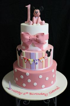 1st Birthday Cake by Couture Cakes - NSW - www.cakeappreciationsociety.com
