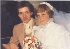 Ian and Deborah Curtis on their wedding day.