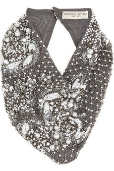 Finds + Mignonne Gavigan embellished silk-chiffon scarf necklace   NET-A-PORTER