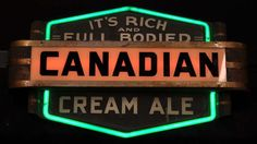 Canadian Cream Ale neon sign