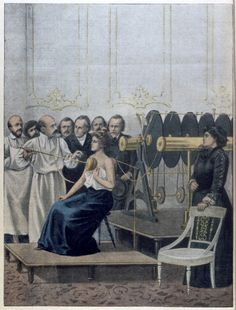 Treatment of Tuberculosis using electricity 1901 Francisque Crotte demonstrating his 'cure' for tuberculosis using electricity .