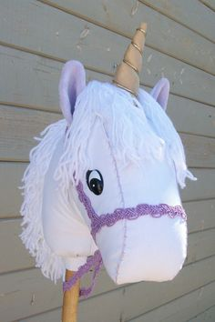 Stick Unicorn Purple Ready to Ride MADE TO by RusticHorseShoe