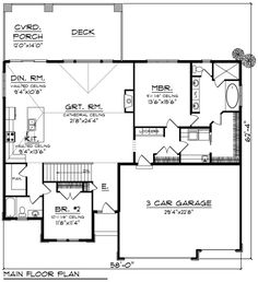 house flooring Prairie Style House Plan with Open Layout - 2 Bedroom House Plans, Ranch House Plans, Best House Plans, Dream House Plans, Small House Plans, House Floor Plans, Prairie House, Prairie Style Houses, The Plan
