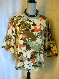 HOT COTTON Marc Ware 2X Top Floral  Tunic Woman Resort Wear Shirt 24 W#fashion#style#casual#deal#hotcotton