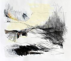 Landscape Drawings, Abstract Landscape, Urban Sketching, Textile Artists, Collage, Beach Art, Gravure, Teaching Art, Watercolor And Ink