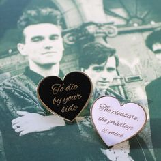 Inspired by Morrissey's famous lyrics, this is one for the lovers, the best friends, or Smiths fans! Give one away, or keep them both. There is a light, and it never goes out.Pair of soft e...