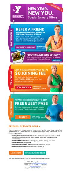 YMCA January Membership Campaign – Email – Refer a Friend
