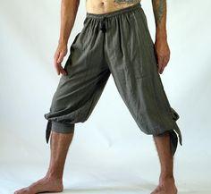 Leg Tie Pants Zootzu Pirate Renaissance Costume Buccaneer Striped Green | eBay