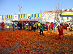 Battle with oranges. Ivrea.