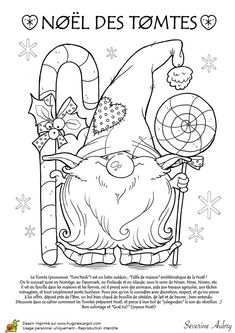 Coloriage introduction les tomtes lutins suedois sur Hugolescargot.com - Hugolescargot.com