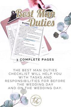 List Of Duties Best Man The Wedding Planning Binder Printable Be