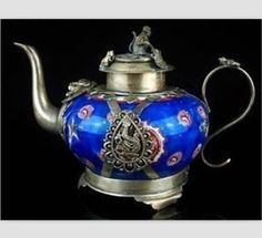 Religious Asian Chinese rare Beautiful Tibet Porcelain Teapot in Collectables, Decorative Ornaments/ Plates, Collector Teapots | eBay