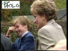 Princess Diana  William Harry 1993 rare video