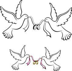 grafika ślubna gołąbki - Szukaj w Google