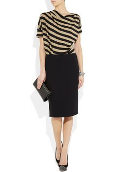 Vivienne Westwood Anglomania - Striped stretch-linen top