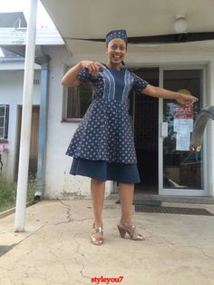 Shweshwe dresses 2020 is extremely well respected mostly in Africa. let us show shweshwe dresses for South African women to copy in her coming parties. African Dresses For Women, African Print Dresses, African Fashion Dresses, African Women, African Prints, African Children, Ankara Fashion, African Wedding Attire, African Attire
