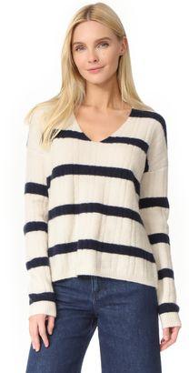 Shop Now - >  https://api.shopstyle.com/action/apiVisitRetailer?id=631221662&pid=uid6996-25233114-59 Jenni Kayne Stripe Cashmere V Neck Sweater  ...