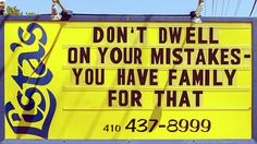"""Don't Dwell on Your Mistakes - """"You Have Family for That"""" by Brian Wallace #humor #amen"""