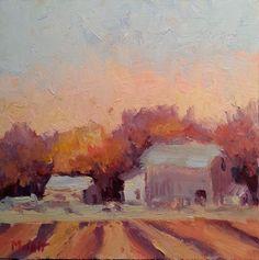 Heidi Malott Original Paintings: Gray Barn in the Blaze of Autumn Studio Sale Heidi...