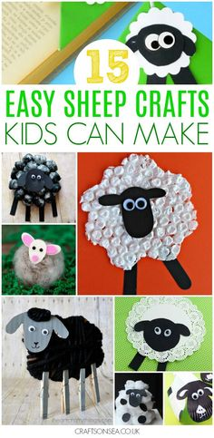 Easy and fun, these are our favourite sheep crafts for kids, perfect for spring, as Easter crafts or for farm units in preschool. Ideas suitable for all ages with lamb and sheep crafts that kids will love and that you'll want to share. #kidscrafts #kidsactivities #spring #preschool