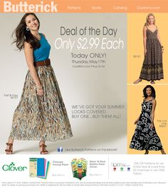Butterick's Today Only Special: 5/17/2012