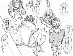 Boy is asleep Bokuto X Akaashi, Iwaoi, Kuroken, Bokuaka, Kagehina, Kenma, Haikyuu Manga, Haikyuu Funny, Haikyuu Fanart