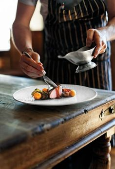 It's not every British pub that serves such exquisite food...or has two Michelin stars. But that's the case at the Hand & Flowers, in Buckinghamshire, outside London.