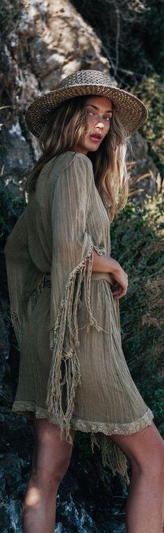 Bohemian mini dress
