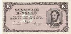 1 millió bilpengő - Magyar papírpénzek honlapja - Bankjegyek.com Gold Money, Budapest, Personalized Items, Retro, Cards, Hungary, Vintage, Coins, Maps