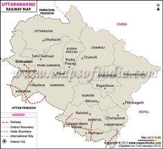 Uttarakhand Rail Map