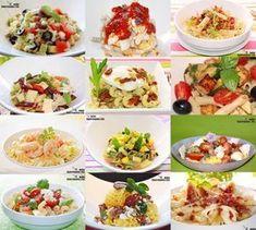 Doce recetas de ensalada de pasta Pasta Salad With Tortellini, Pesto Pasta Salad, Pasta Salad Italian, Chicken Salad Recipes, Pasta Recipes, Cooking Recipes, Vegetarian Recipes, Healthy Recipes, Cold Meals