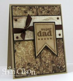 Father's Day card by Sheri Gilson using Verve Stamps.  #vervestamps