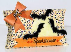 The Paper Boutique: Halloween Pillow Box and Paper Bow made with my Silhouette
