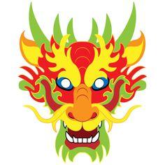 Chinese Dragon Drawing, Chinese New Year Dragon, Paper Dragon Craft, Dragon Crafts, Chinese Mask, Chinese Paper, Korean Dragon, Dragon Mask, Carnival