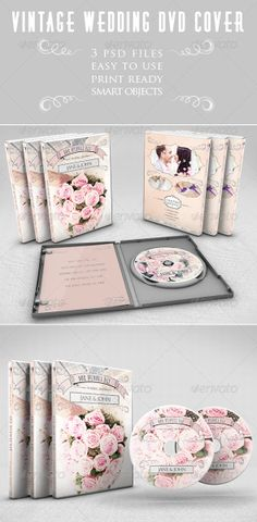 Vintage Wedding DVD Cover design